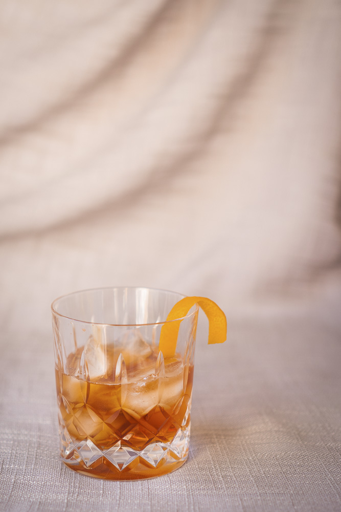 non alcoholic old fashioned whisly cocktail